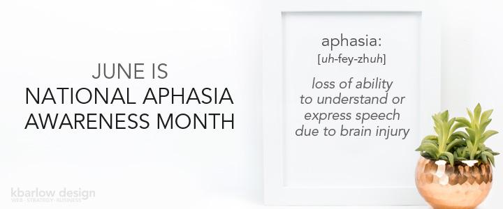 Aphasia Awareness Month