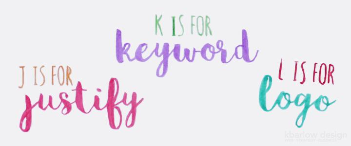 ABCs of Business: Justify, Keyword, Logo