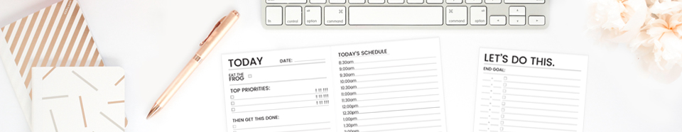 Productivity Planners | www.kbarlowdesign.com