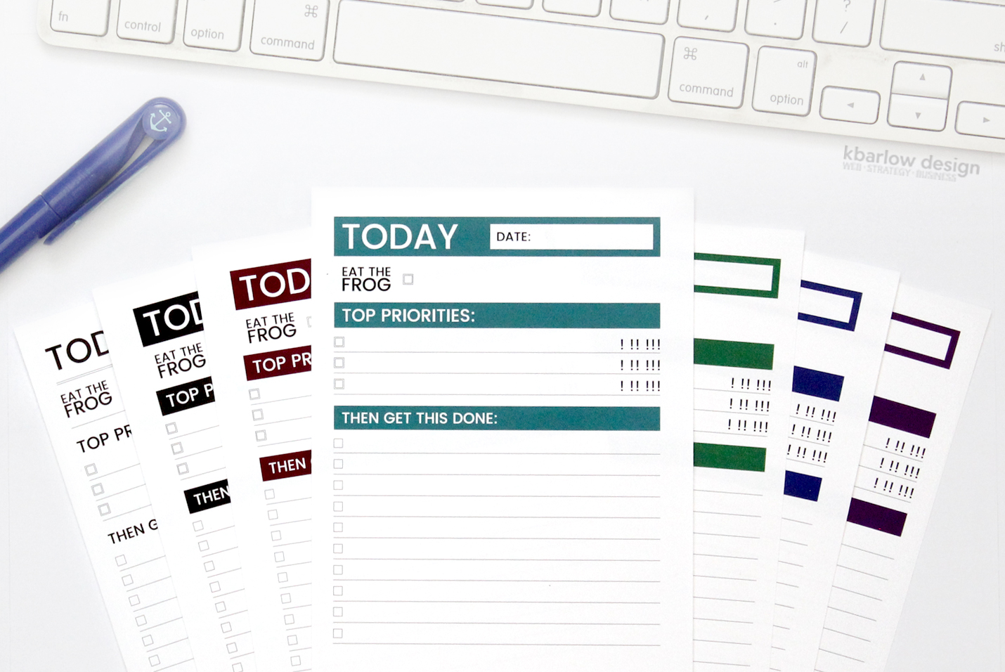 The Ultimate To Do List - Productivity Planners | kbarlowdesign.com