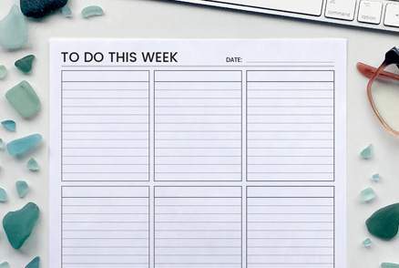 Weekly Planner - Productivity Planners | kbarlowdesign.com
