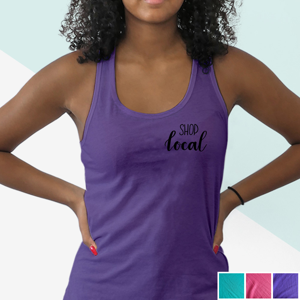 Shop Local tank (black hand lettering) | kbarlowdesign.com/shop