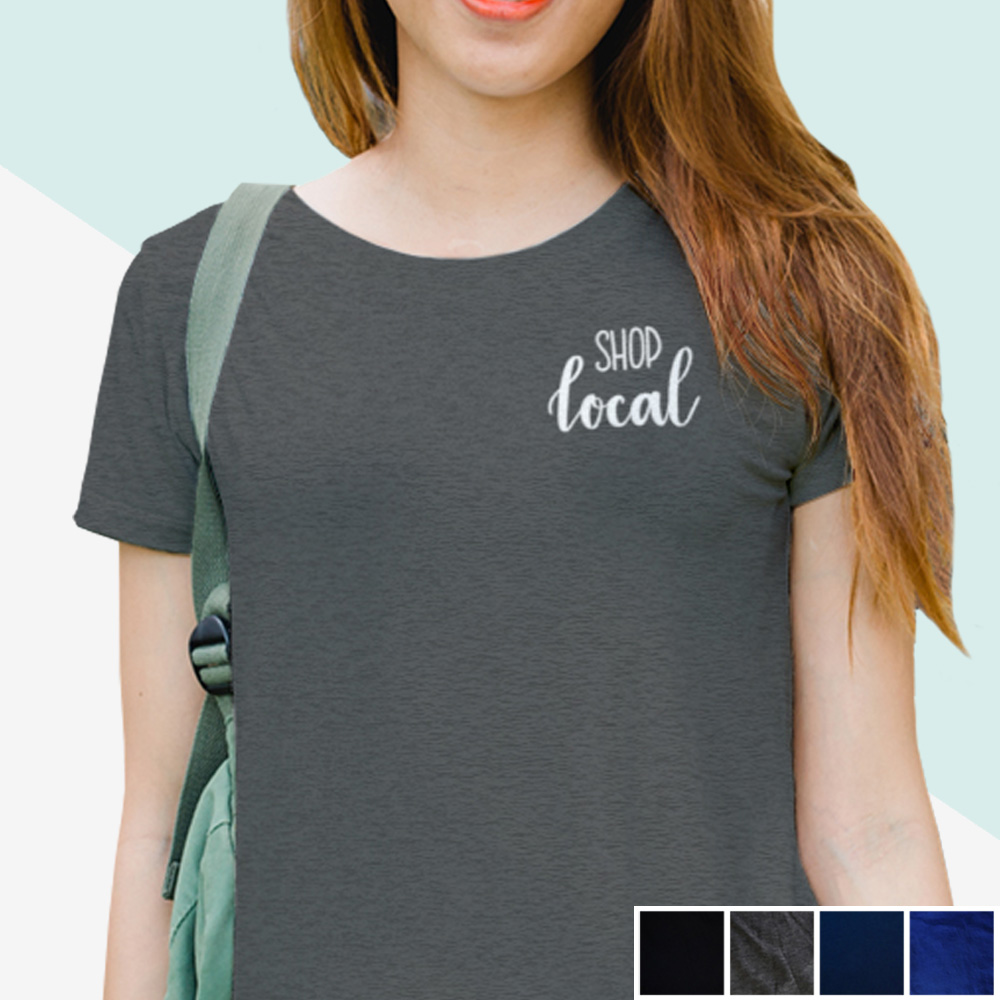 Shop Local Tee (white hand lettering) | kbarlowdesign.com/shop