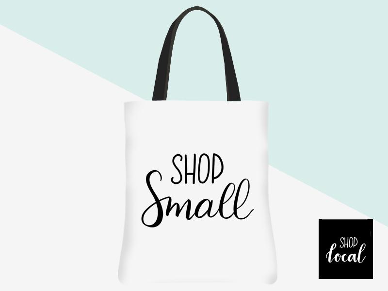 Shop Small Tote (white/black lettering) | kbarlowdesign.com/shop