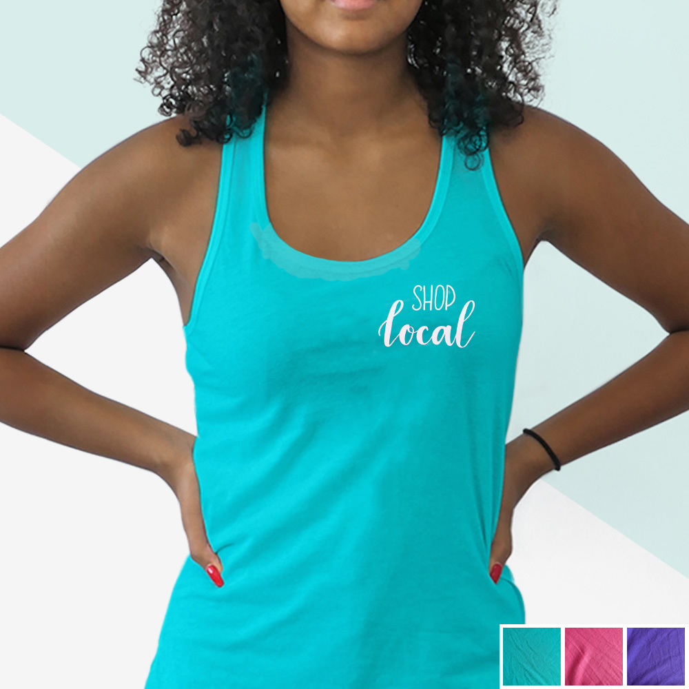 Shop Local Tank (white hand lettering) | kbarlowdesign.com/shop