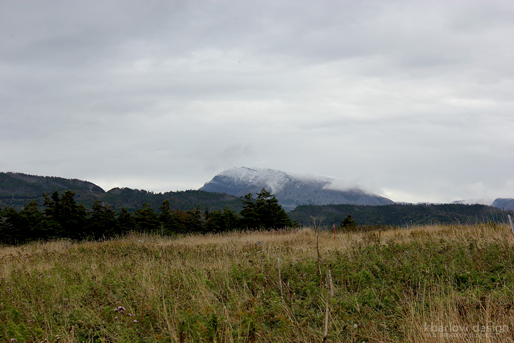 nl gros morne mountain with snow | kbarlowdesign.com blog